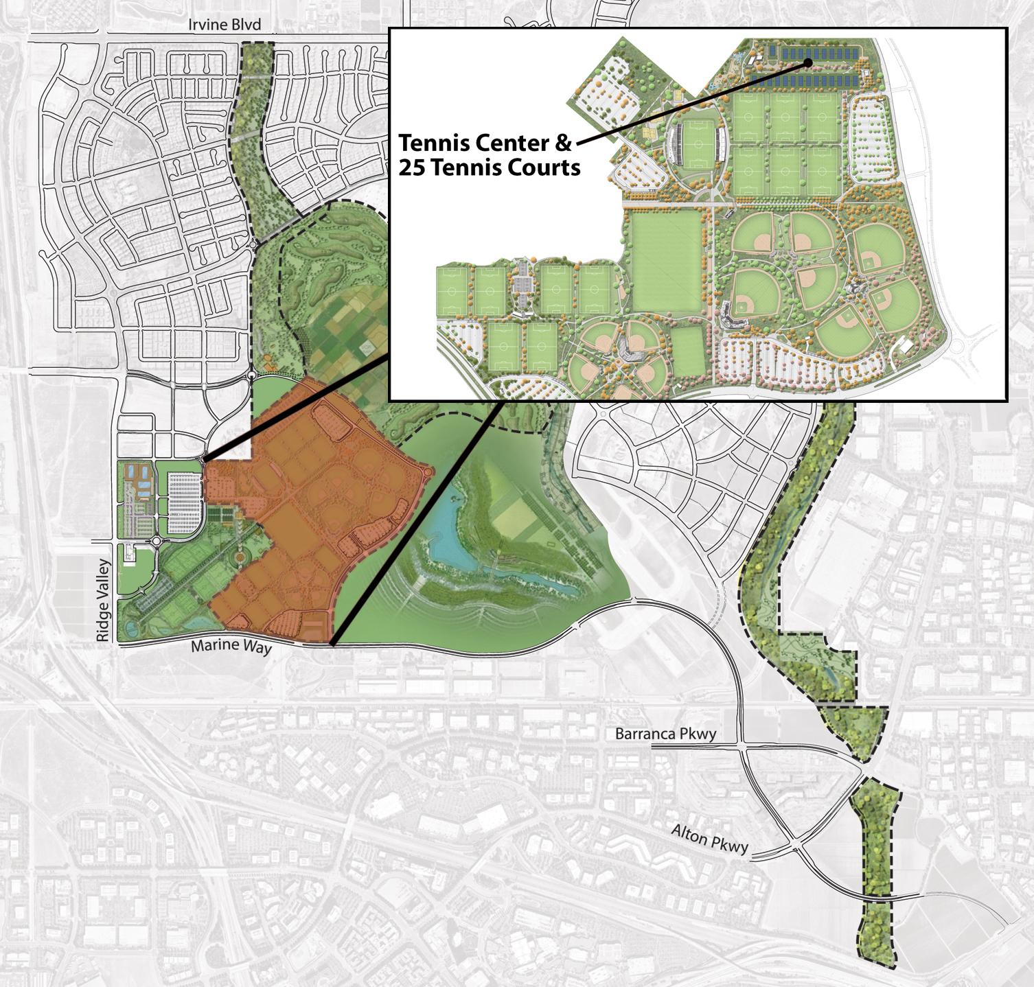 Sports Complex Tennis Map