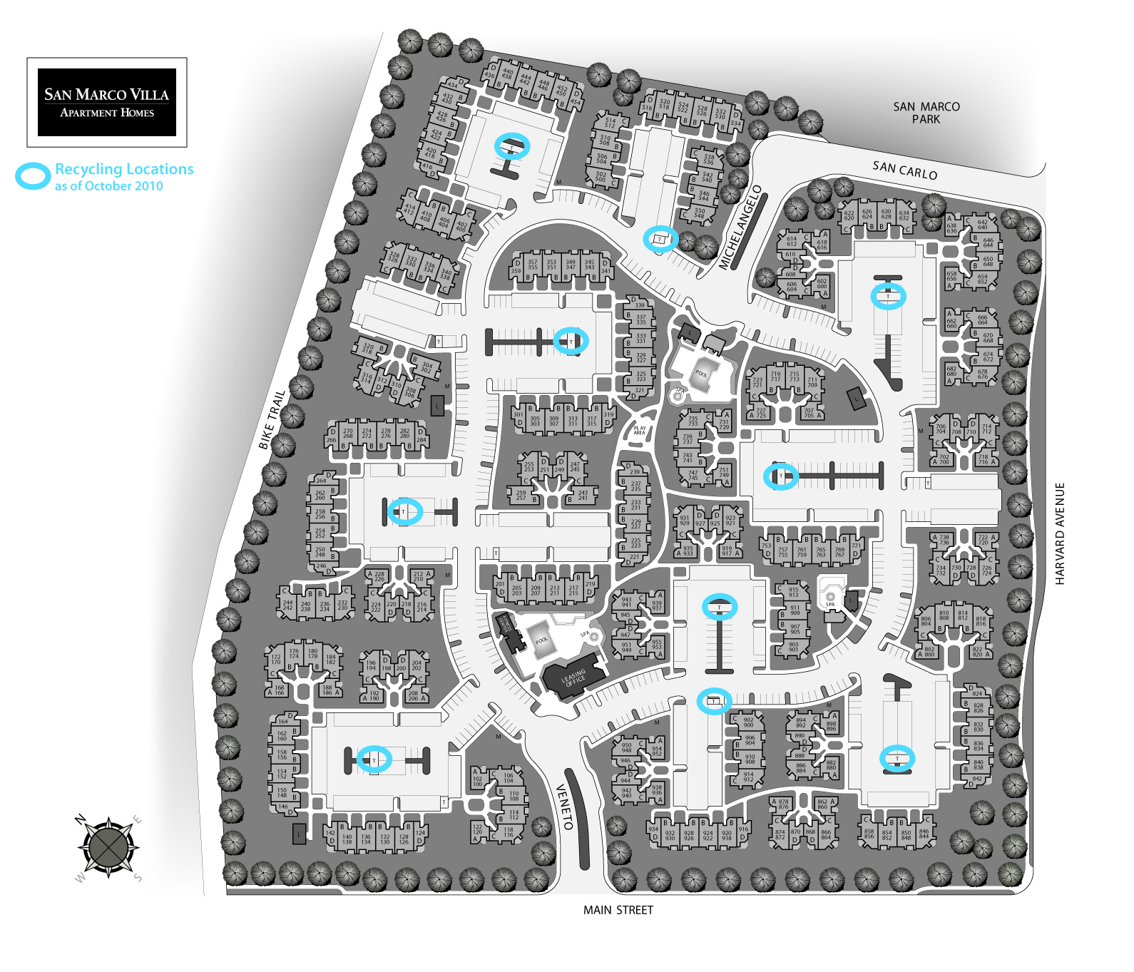 Quail Hill Apartments In Irvine Ca: Multi-Unit Recycling Maps