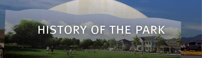 Links to web page describing the history of the Orange County Great Park.