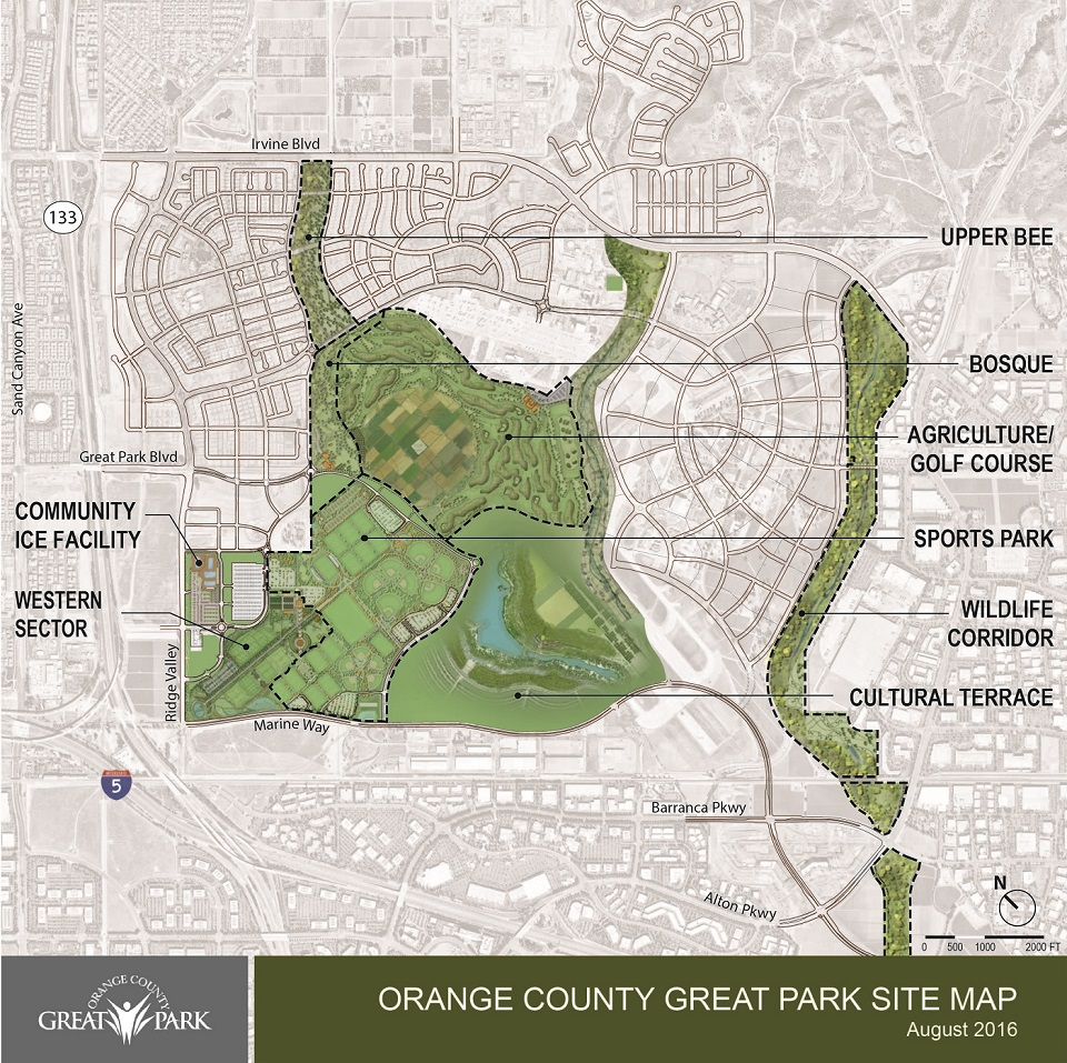 Great Park Development Area Site Map