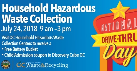 Discovery Cube Coupon >> National Drive Thru Day At Household Hazardous Waste Collection